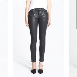 PAIGE Edgemont' Coated Ultra Skinny Jeans 27